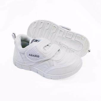Abaro School Shoes [NEW] 2683 - White Canvas + PVC Primary School Unisex