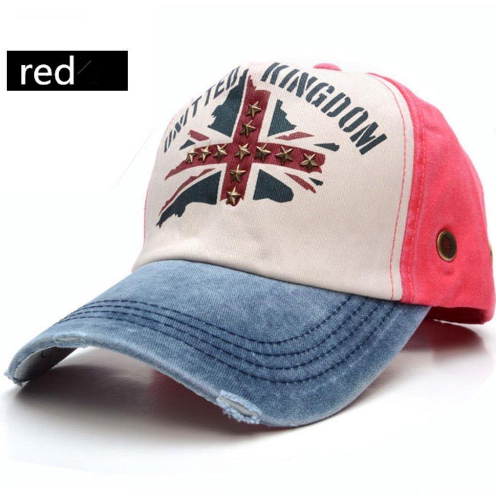 Addc Jual Panas Korea Versi Silang Bintang Pria dan Wanita Tua Luar Ruangan Bisbol Topi Musim Panas Matahari Topi (merah) -Internasional