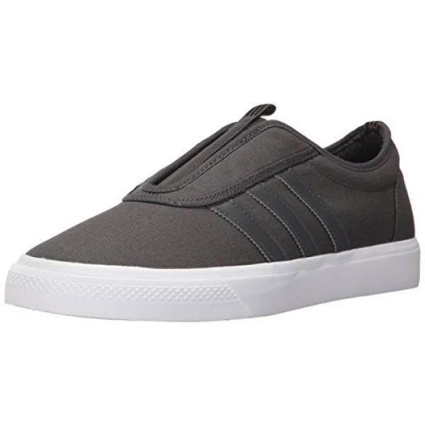 Adidas Originals Pria Adi-kemudahan Kung-fu Sneaker, gelap Polos Grey/Gelap Polos Grey/Putih, Medium Kami-Internasional