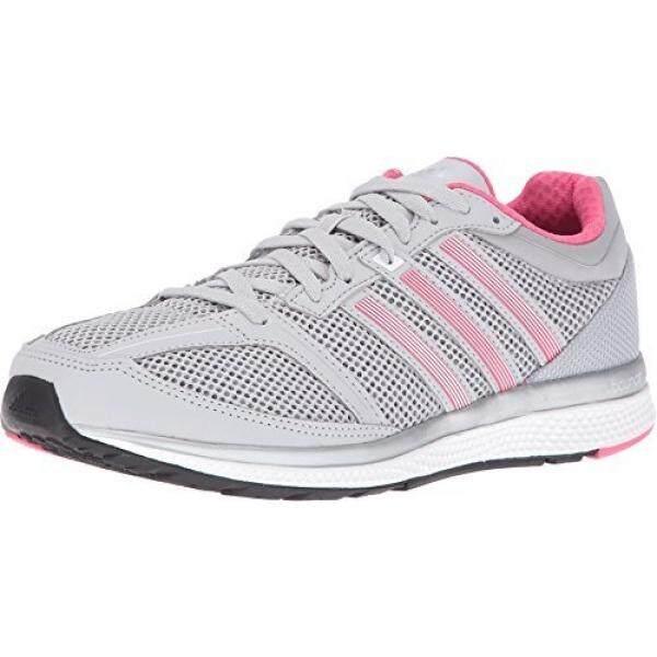 Adidas Performa Wanita Mana RC Bounce W Lari Shoe, Polos Grey/Putih/Bahia Merah Muda S14, 7.5 M Kami-Internasional