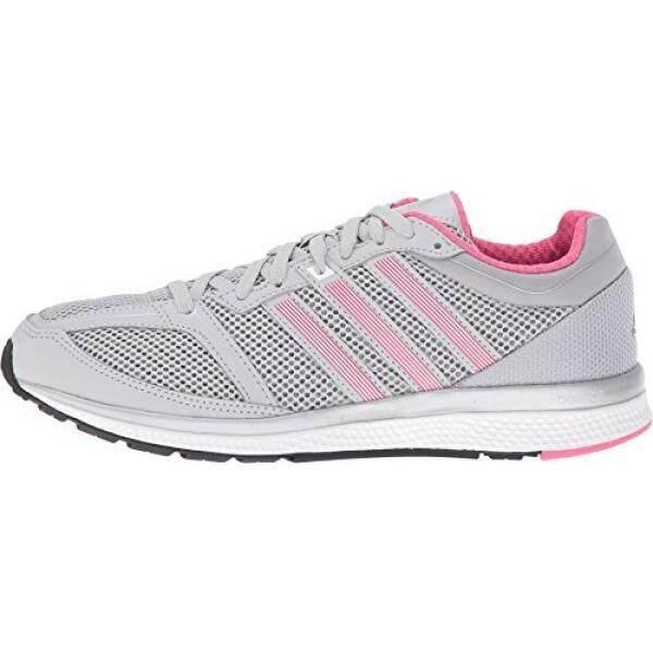 Adidas Performa Wanita Mana RC Bounce W Lari Shoe, Polos Grey/Putih/Bahia Merah Muda S14, kami-Internasional