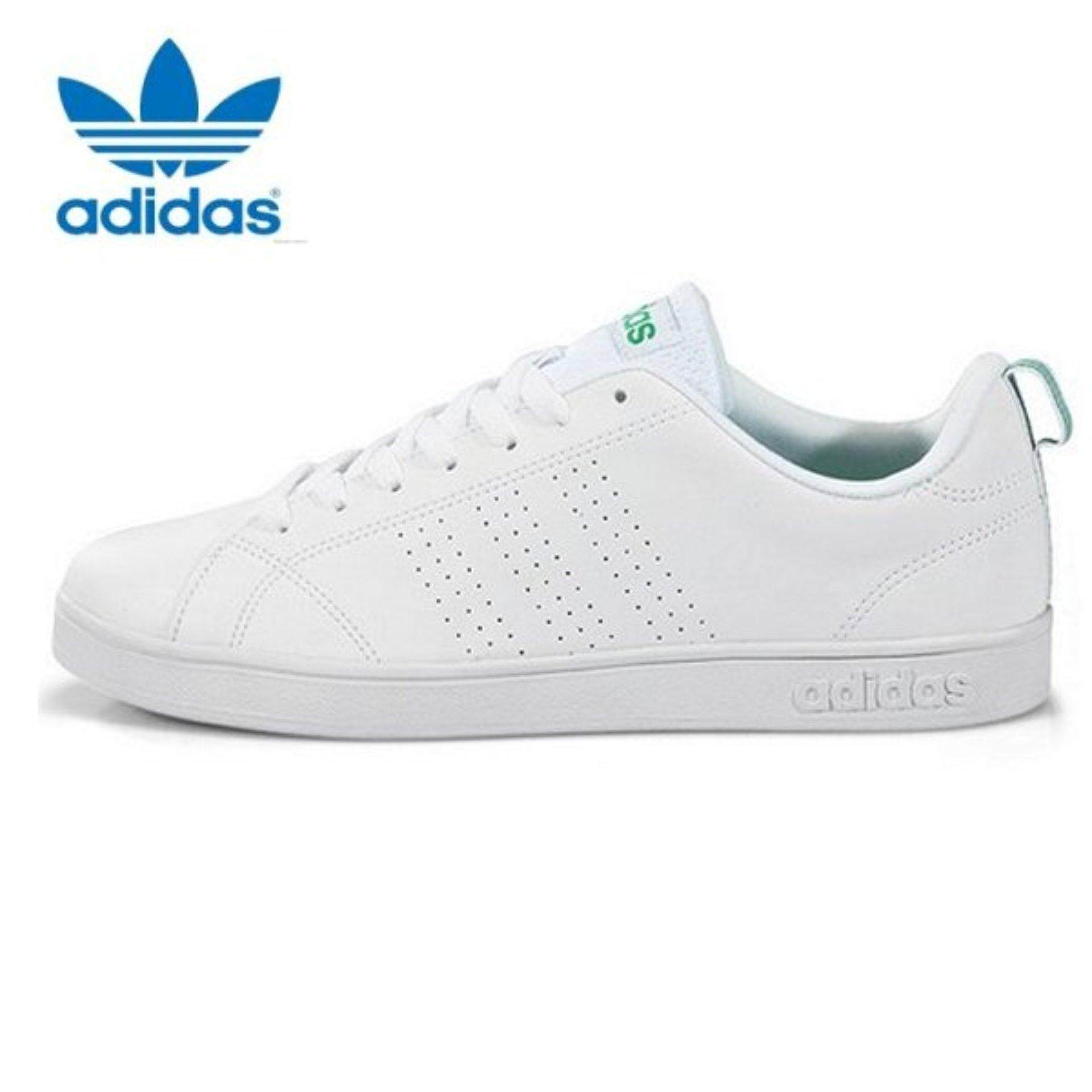 adidas mens shoes. adidas vs advantage f99251 neo casual white/white/green mens shoes | lazada malaysia ,