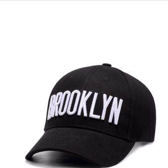 Harga Adjustable Baseball Caps Embroidery Cotton Baseball Cap Boys Girls Snapback Hip Hop Hat black