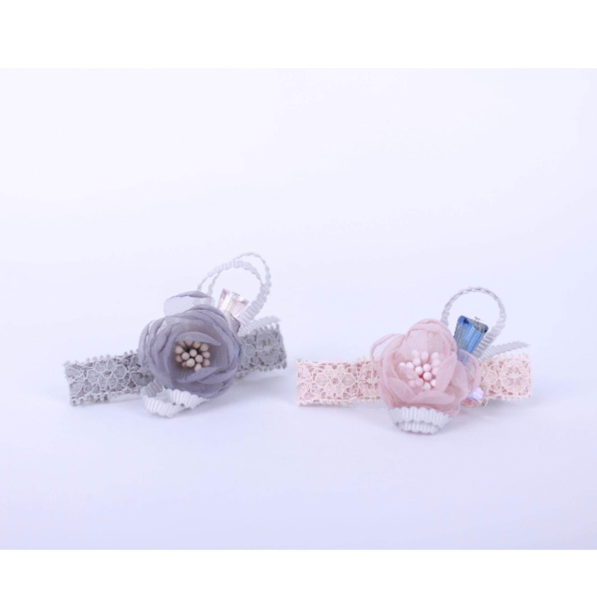 AFGY FGA 202 70303 Hair Clip with Crystal Glass Jewel Accents (Length 6.5cm) x 2unit