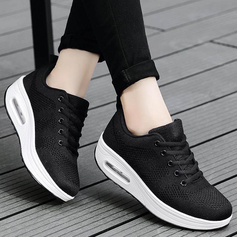 ... Air Mesh Musim Panas Wanita Sepatu Berjalan Sneaker Menyerap Keringat Sepatu Luar Ruangan Wanita Tebal Bawah