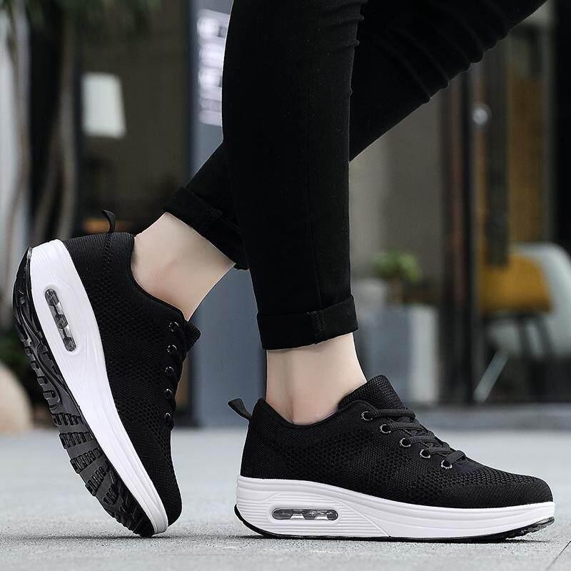 ... Air Mesh Musim Panas Wanita Sepatu Berjalan Sneaker Menyerap Keringat Sepatu Luar Ruangan Wanita Tebal Bawah ...