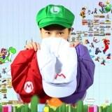 Allwin Chic Dari Luigi Super Mario Bros Cosplay Ukuran Dewasa Topi Baseball Kostum Baru Merah M Murah