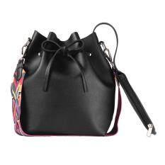 Beli Allwin Fashion Colorful Strap Wanita Bucket Bag Vintage Tas Tas Tas Kulit Intl Cicilan