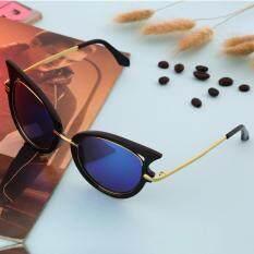 Beli Allwin Retro Womens Mens Sunglasses Metal Frame Golden Leg Cat Eye Shades Eyeglasses Green Online Tiongkok