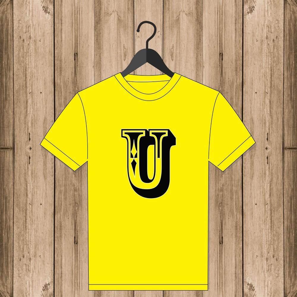 Sulina Uniform New Arrival The Olive House Gantungan Baju X Hangar Alphabet T Shirt Letter U Yellow