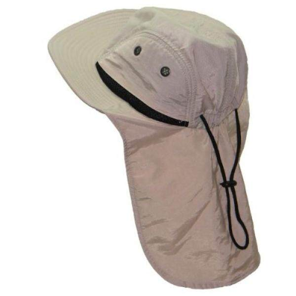 Altis Apparel 4 Panel Quick Dry Out Moisture Large Bill Flap Hat Sun Cap (Stone / Natural) - intl
