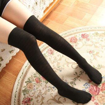 Harga Amart 1 Pair Women Cotton Stockings Sexy Thigh High Knee Long SocksBlack