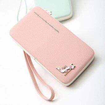 Amart Lovely Lady Wallets Long Wallets Purses Clutch Bags Phone Case For iPhone 6 Plus Lady Cute Coin Purse (Pink)