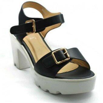 Amber Walk Lady Heel Pump Ankle Strap Buckle- 6225 (Blue) - 3