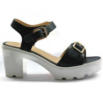 Amber Walk Lady Heel Pump Ankle Strap Buckle- 6225 (Blue) - 4