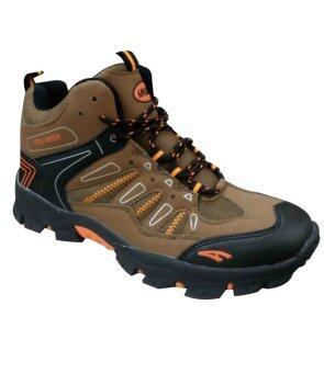 AMBROS Pro Hiker Hiking Shoes - BROWN/BLACK