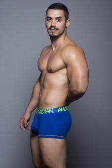 ANDREW CHRISTIAN: ALMOST NAKED TAGLESS COTTON BOXER (ROYAL BLUE)