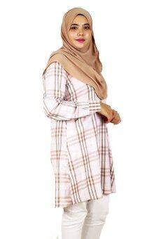 Aqeela Muslimah Wear Career Plaid Pink - 2