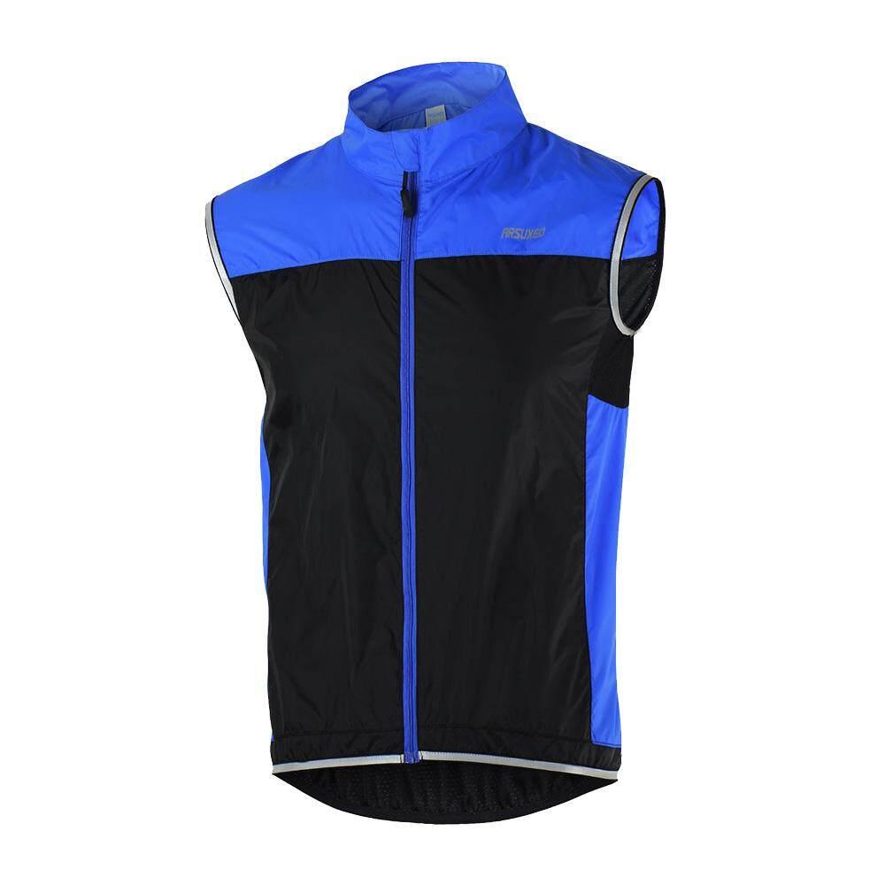 ARSUXEO Men's Ultrathin Lightweight Sleeveless Coat Jacket Running Cycling Bicycle Vest Windproof - intl ...