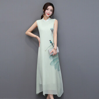Harga Art and elegant small collar dress