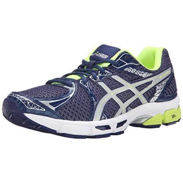 ASICS Mens Gel Exalt ite Show Running Shoe, Indigo Blue/Silver/Flash Yellow, US - intl