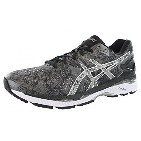 ASICS Mens Gel-Kayano ite-Show Running Shoe, Carbon/Silver/Reflective, US - intl