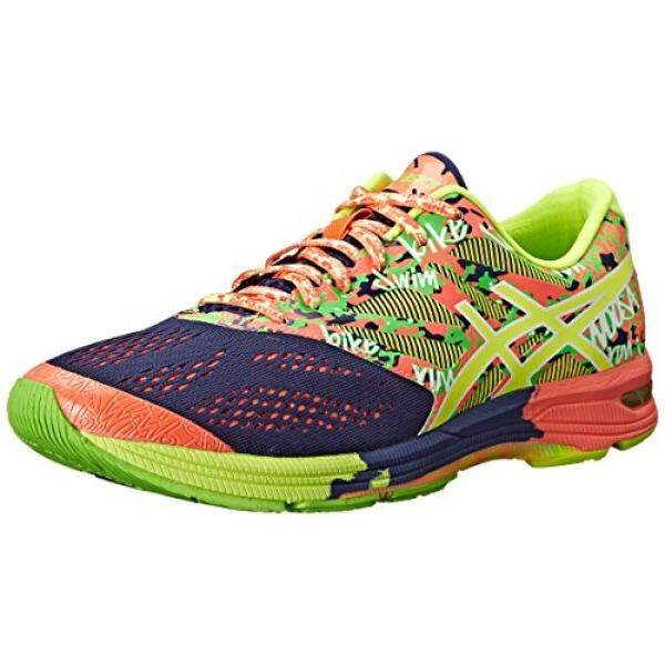 ASICS Mens Gel-Noosa Tri 10 Running Shoe,Indigo Blue/Flash Coral/Flash Yellow, US - intl