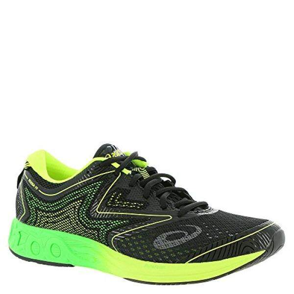 ASICS Mens Noosa FF Running Shoe, Black/Green Gecko/Safety Yellow, US - intl