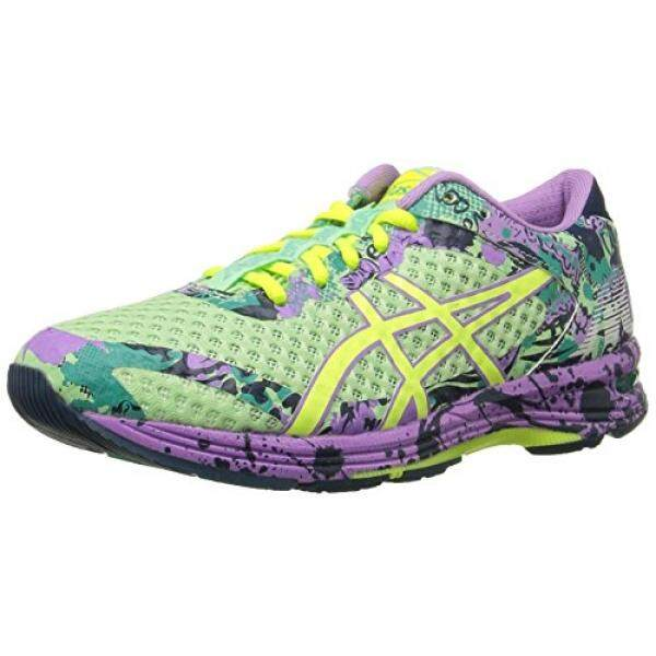 ASICS Womens Gel-Noosa Tri 11 Running Shoe, PATINA Green/Flash Yellow/Violet, 9.5 M US - intl