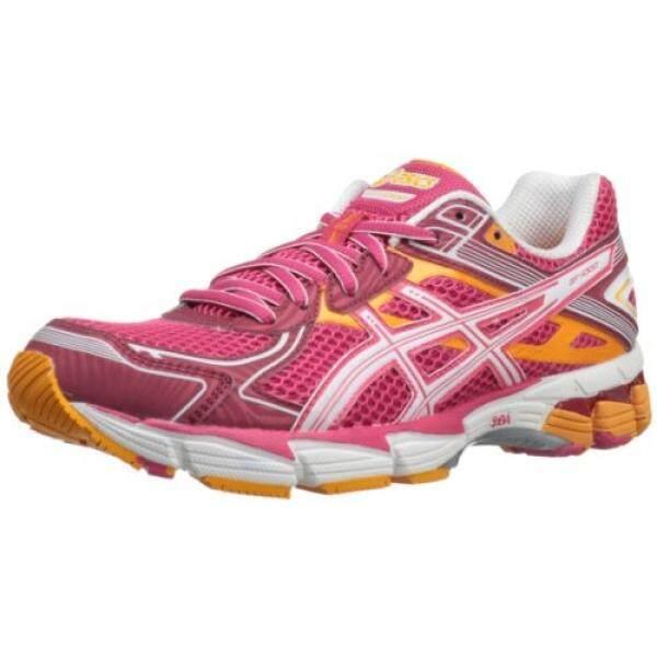 Asics Wanita GT 1000 2 Lari Shoe, Raspberry/Putih/Mangga, Kami-Internasional