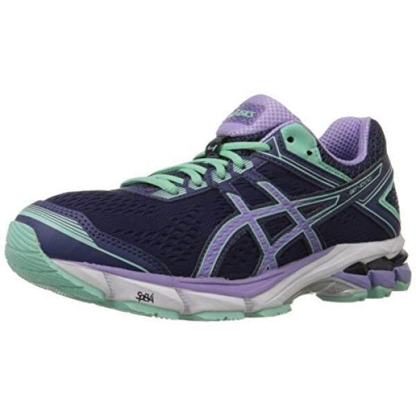 ASICS Womens Gt-1000 4 Running Shoe, Midnight/Violet/Beach Glass, 7 D US - intl