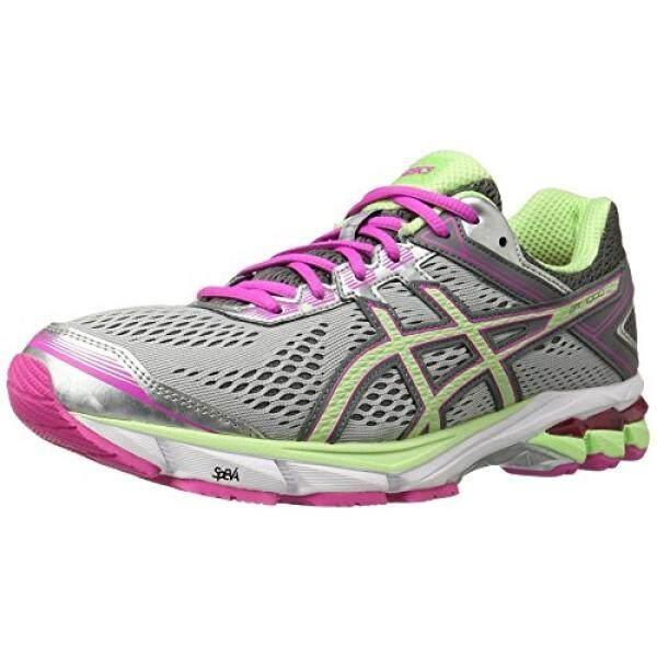 ASICS Womens Gt-1000 4 Running Shoe, Silver/Pistachio/Pink Glow, 5.5 2A US - intl