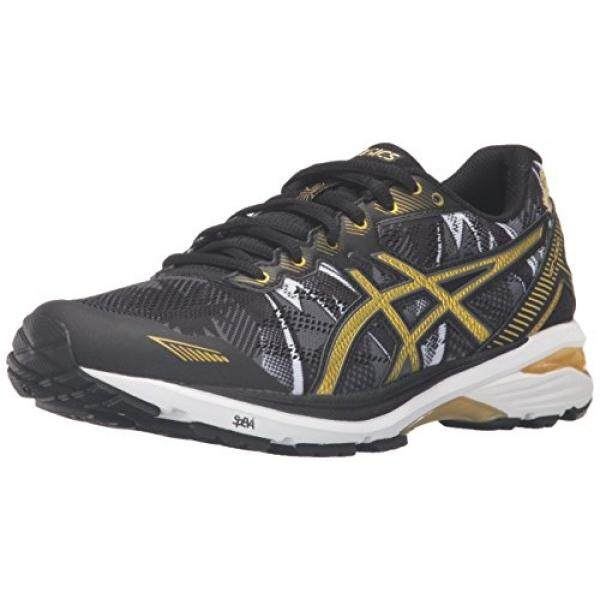 Asics Wanita Gt-1000 5 GR Lari Shoe, Hitam/Emas Kaya/Pita Emas, Kami-Internasional