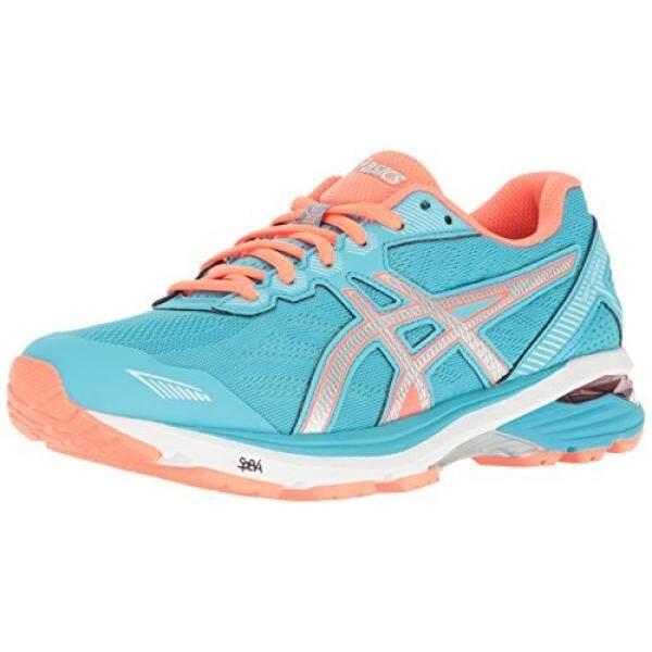 ASICS Womens GT-1000 5 Running Shoe, Aquarium/Silver/Flash Coral, 9 D US - intl