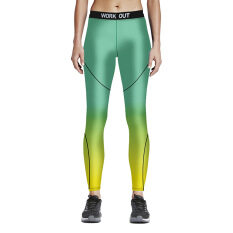 Athletic Sport Running Gym Bodybuilding Fitness Workout Training Leggings Yoga Pant Color First Pic ถูก