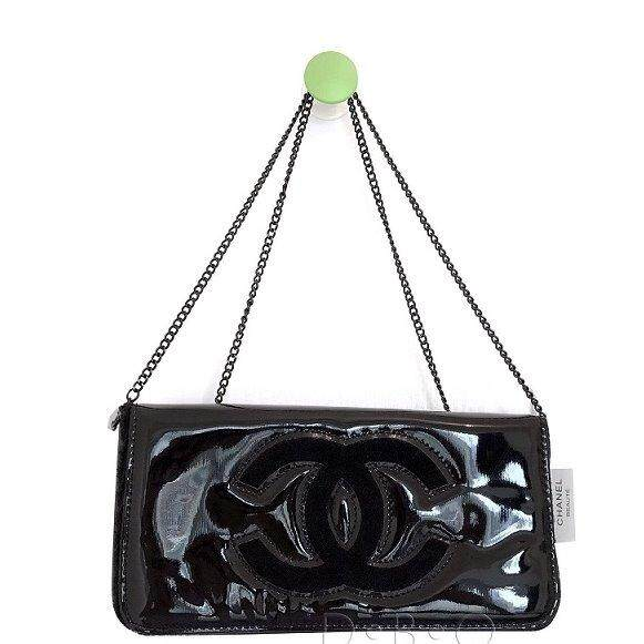 ed1c1a397e Authentic Chanel VIP clutch cross body Bag with Chanel Logo