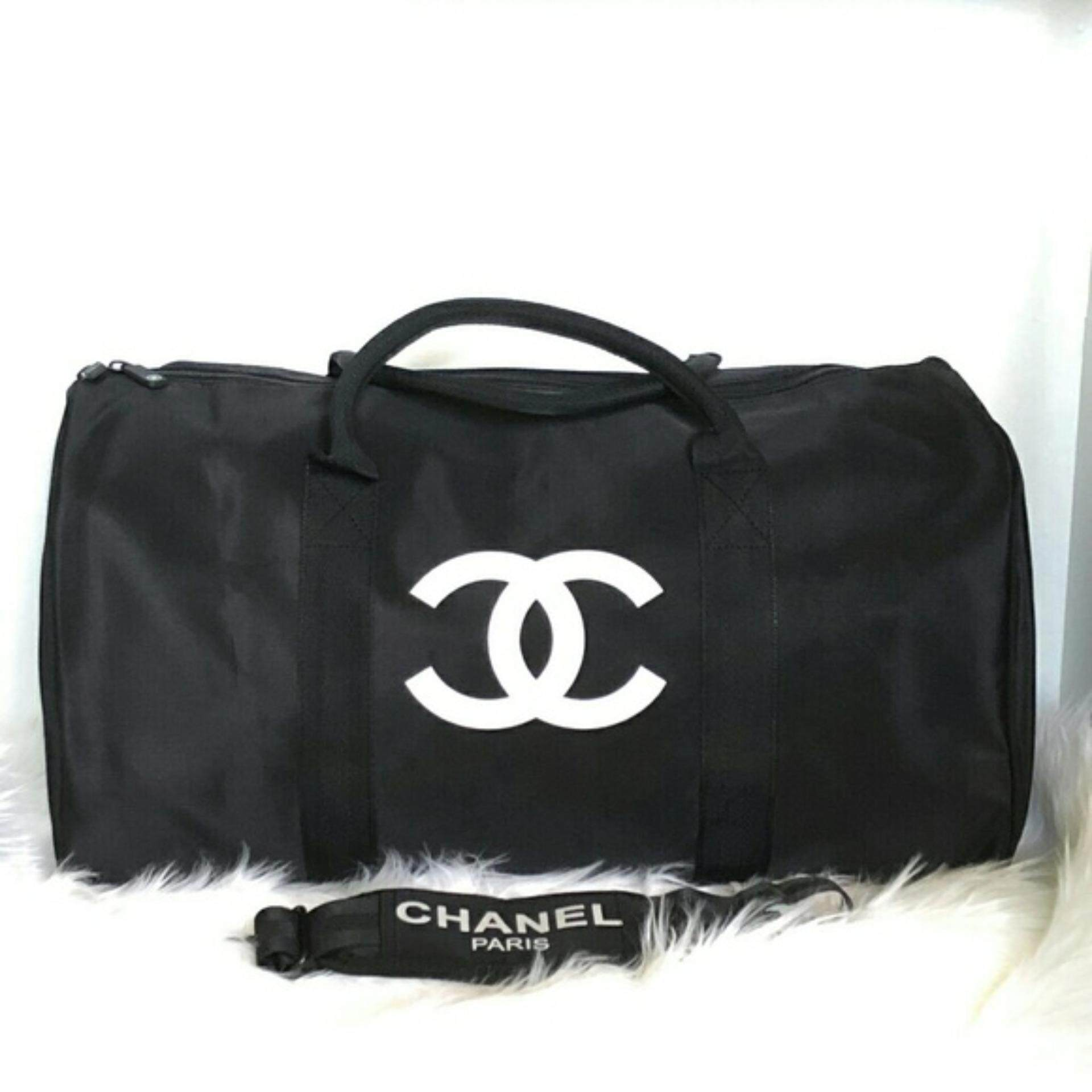 Authentic Chanel VIP gift bag travel Bag Gym weekend Duffle