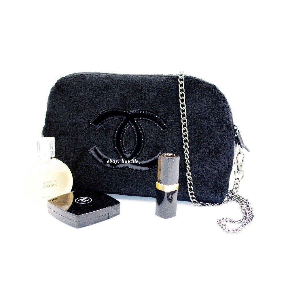 59485aa5d75c Authentic Chanel VIP GIFT Crossbody Clutch Shoulder Velvet bag
