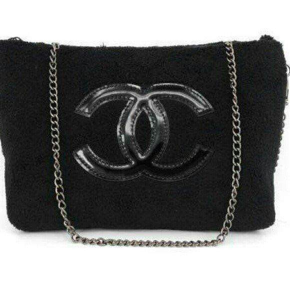 0e458d88a247a2 Authentic Chanel VIP GIFT Crossbody Clutch Shoulder Velvet bag