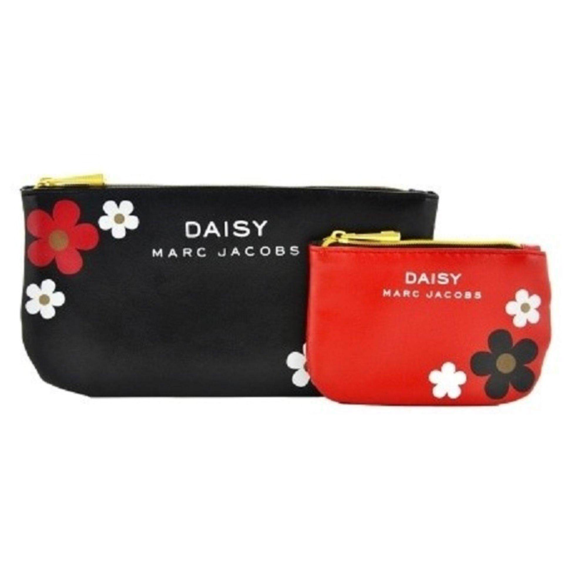 Authentic Marc Jacobs Daisy Pouch Red and Black Pouch Set (CLEARANCE BELOW COST )