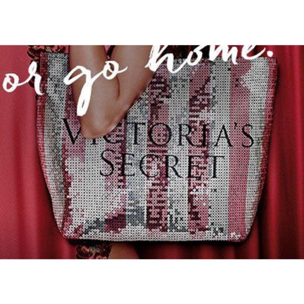 24c374ca63d Authentic RARE Victoria Secret VIP gift Black Friday Sequin Tote Bag