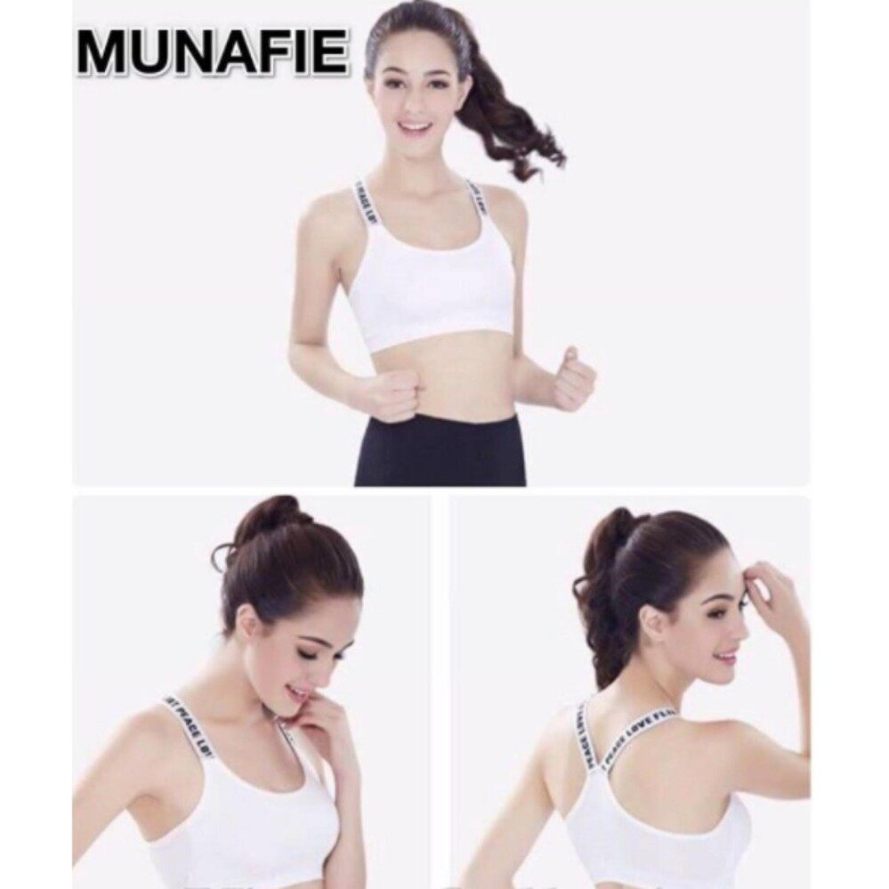 Authentic WHITE Munafie Seamless Womens Bra From Japan (Local, Clearance Sale)
