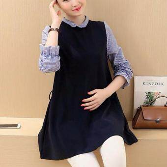 Autumn Fashion Maternity Dress Pregnant Skirts Wear Long Sleeve Zipper