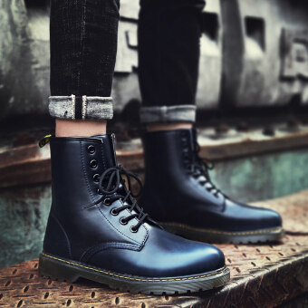Harga Autumn hight-top boots Dr. Martens (Blue)