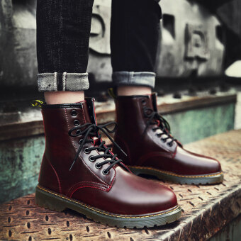 Harga Autumn hight-top boots Dr. Martens (Red Wine)