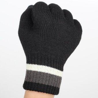 Ayiyun - Black Winter Knitted Outdoor Wrist Fitness Hand Gloves forWomen/men Unisex Glove Phone Touchable Screen Gloves - 2