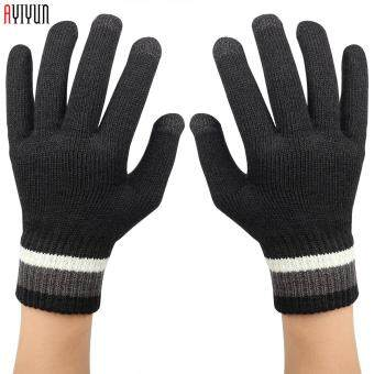 Harga Ayiyun - Black Winter Knitted Outdoor Wrist Fitness Hand Gloves forWomen/men Unisex Glove Phone Touchable Screen Gloves