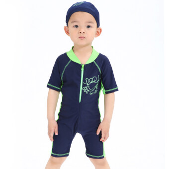 Harga Baby boy's split swimsuit children's swimsuit (Green crab) (Green crab)