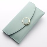 WLT-046 Baelberry N1162 Woman Big Space Lady Fashion Wallet Purse [LIGHT BLUE]