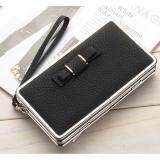 WLT-047 Baelberry N1228 Women Lady Clutches Bow Purse(BLACK)